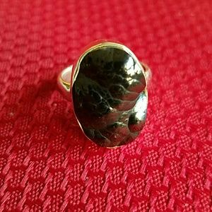 Blister Hematite Ring Sterling Silver NEW